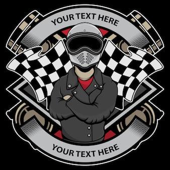 Logotipo do motociclista