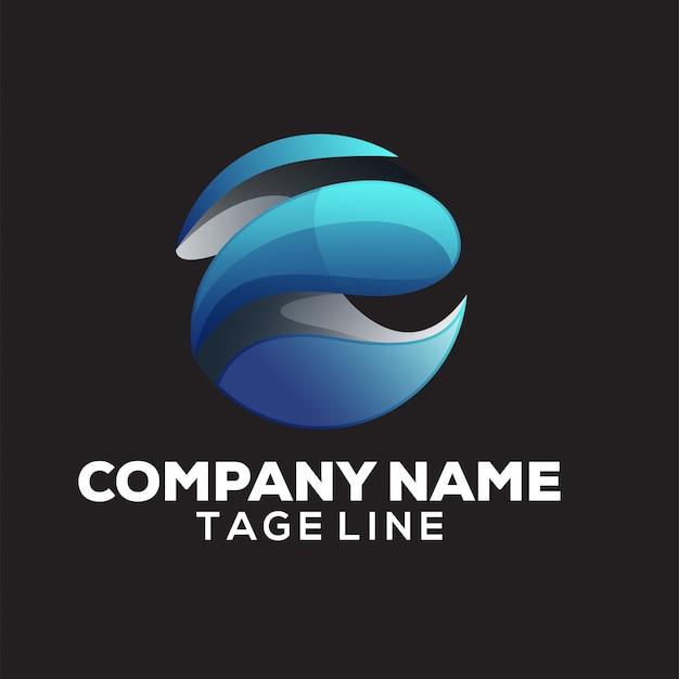 Logotipo do mundo abstrato