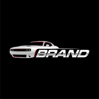 Logotipo do muscle car com fundo preto
