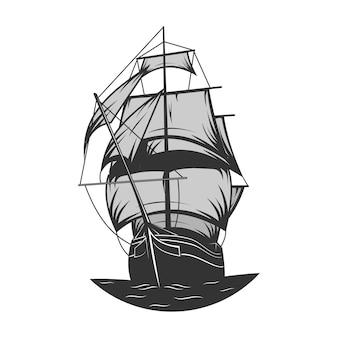 Logotipo do navio à vela