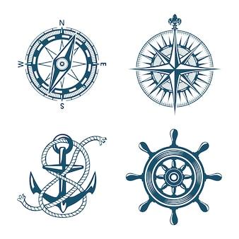 Logotipo do navio barco marinho