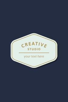 Logotipo do negócio simples