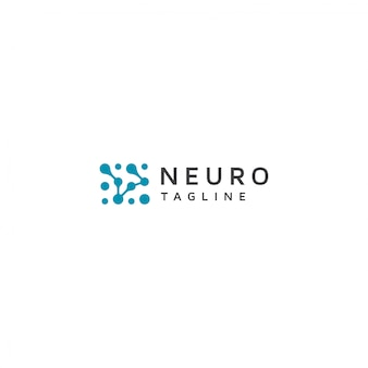 Logotipo do neurônio com slogan