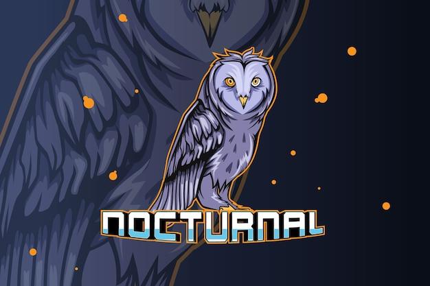 Logotipo do nocturnal e sport