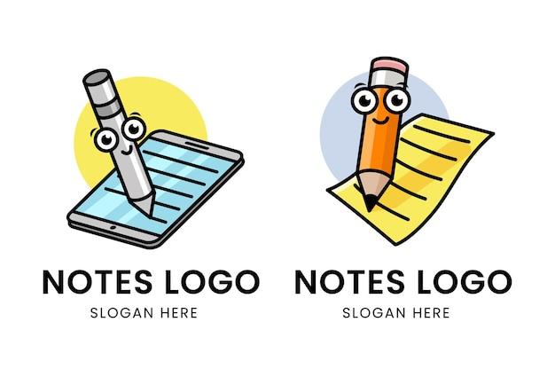 Logotipo do notes com caracteres diferentes