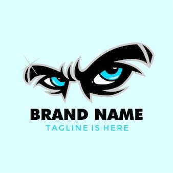 Logotipo do olho azul