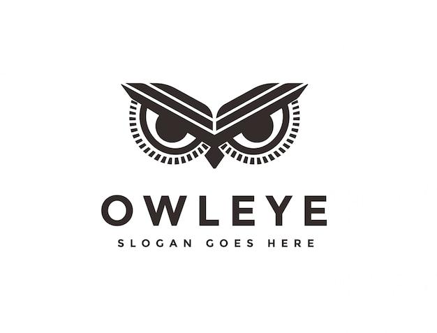 Logotipo do olho de coruja