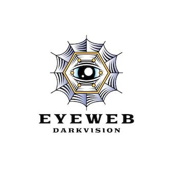Logotipo do olho de teia de aranha