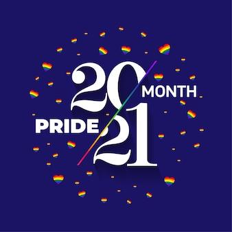 Logotipo do orgulho lgbt. logotipo do emblema do orgulho 2021 com banner lgbt de bandeira de arco-íris com coração quadrado. elemento de design de vetor criativo para logotipo do mês do orgulho, modelo de postagem de mídia social. ilustração vetorial.