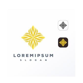 Logotipo do ornamento de ouro