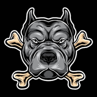 Logotipo do osso pitbull