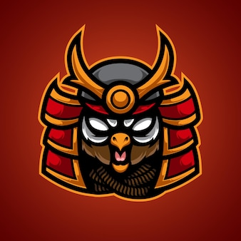 Logotipo do owl samurai e sport