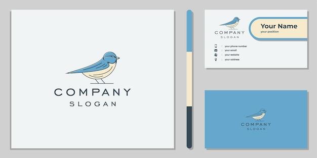 Logotipo do pardal desenhado à mão para a empresa