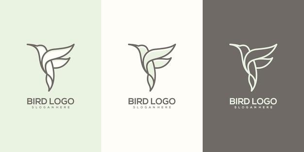 Logotipo do pássaro abstrato feminim pronto para usar