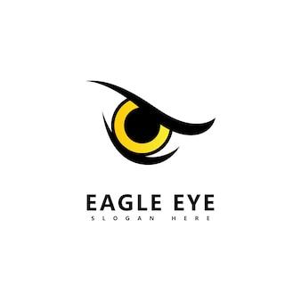 Logotipo do pássaro águia predador olho falcão logotipo da empresa