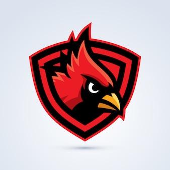 Logotipo do pássaro cardinal