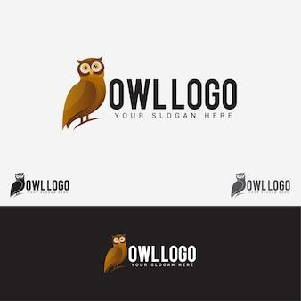 Logotipo do pássaro da coruja