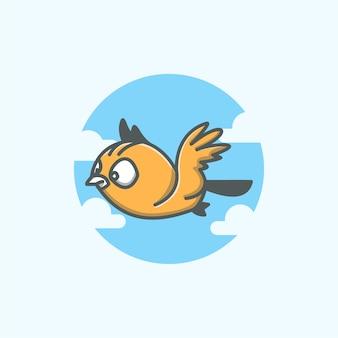 Logotipo do pássaro da nuvem