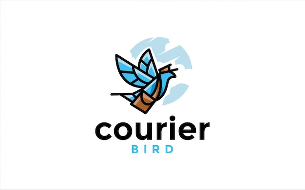 Logotipo do pássaro de correio
