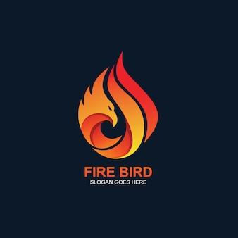 Logotipo do pássaro de fogo