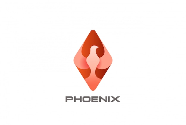 Logotipo do pássaro phoenix