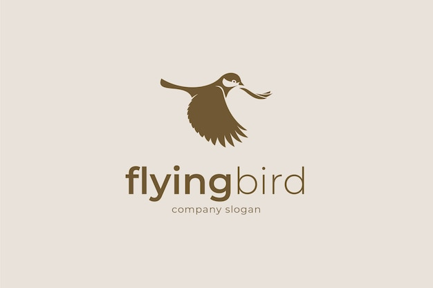 Logotipo do pássaro voador.