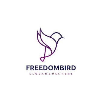 Logotipo do pássaro Vetor grátis