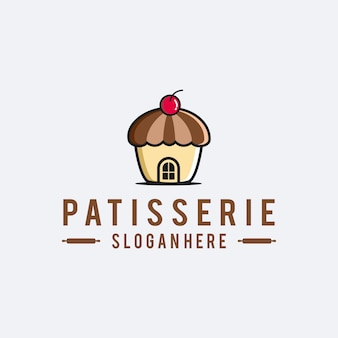 Logotipo do patisserie do padeiro