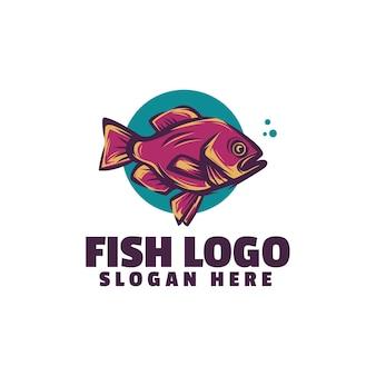 Logotipo do peixe isolado no branco