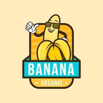 Logotipo do personagem banana