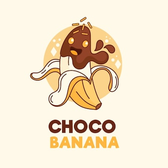 Logotipo do personagem choco banana