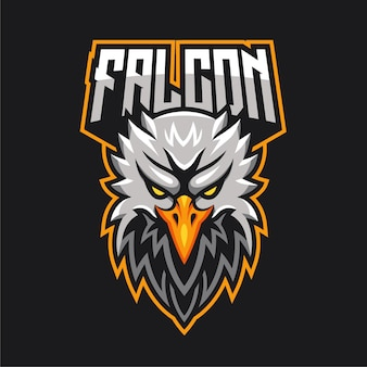 Logotipo do personagem mascote do e-sports da eagle