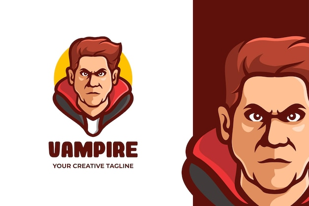 Logotipo do personagem vampire man mascot Vetor Premium