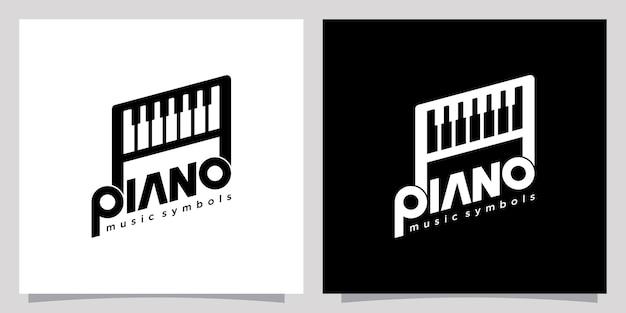 Logotipo do piano ícone símbolo modelo logotipo