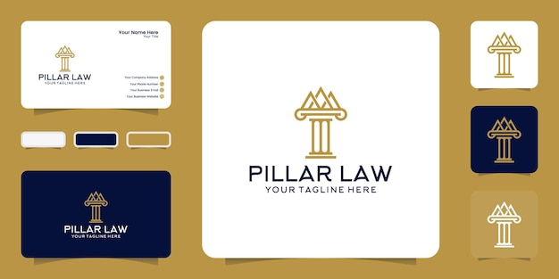 Logotipo do pilar da justiça e inspiração para cartão de visita