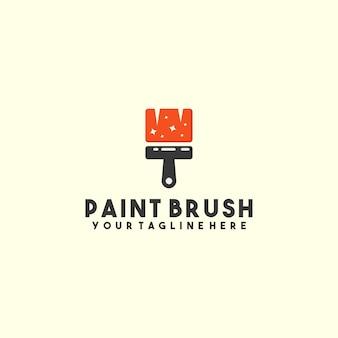 Logotipo do pincel de pintura criativa