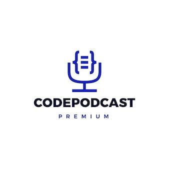 Logotipo do podcast de código