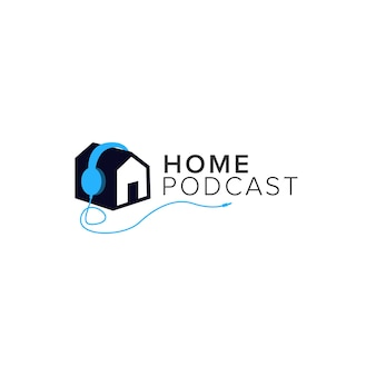 Logotipo do podcast em casa