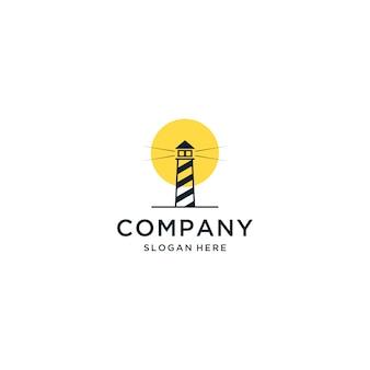 Logotipo do por do sol do porto, logotipo claro da porta