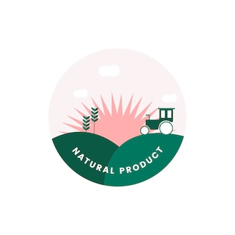 Logotipo do produto natural orgânico
