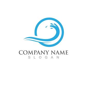 Logotipo do projeto da ilustração do vetor do ícone da onda de água