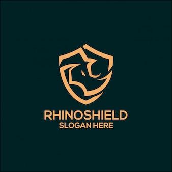 Logotipo do protetor do rinoceronte