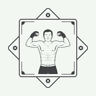 Logotipo do pugilista