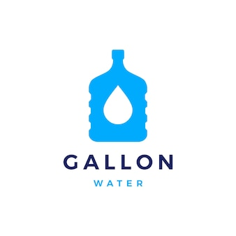 Logotipo do refil de galão de água para beber isolado no branco