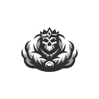 Logotipo do rei de esqueleto