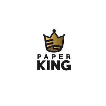 Logotipo do rei de papel