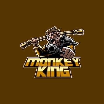 Logotipo do rei do macaco