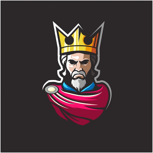 Logotipo do rei incrível ilustração