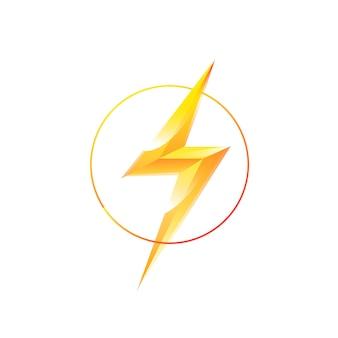 Logotipo do relâmpago em um círculo