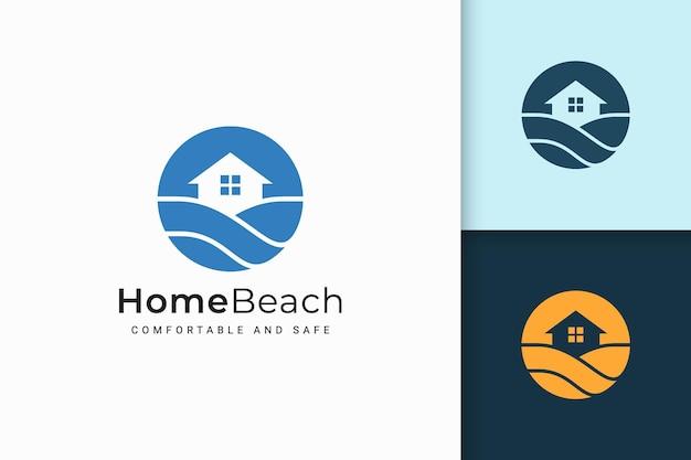 Logotipo do resort ou propriedade em forma abstrata para negócios imobiliários